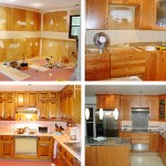 Before and After of kitchen designed by Patricia Scott