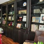 Stained Office Bookcase built & installed by Tom Scott