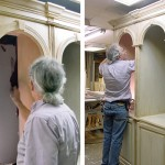 Finishing the double arch cabinet