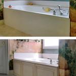Wood panel tub surround