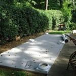 Foundation set for pergola in Sandy Springs