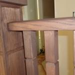 Detail of solid wood railing in John's Creek