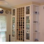 Wine bottle closet in Sandy Springs kitchen