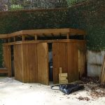 Torn down before new ipe wood pool enclosure Buckhead