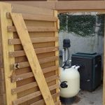Ipe (pronounced ee pay) wood pool storage enclosure Buckhead