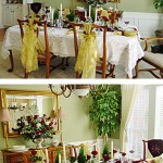 Christmas dining table decoration