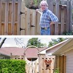 Cedar gate and fence in Smyrna, Ga