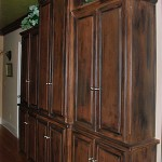 Hall cabinet built, stained & installed by Tom Scott