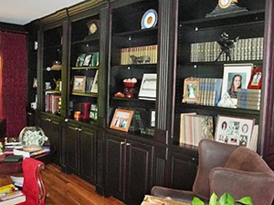 Bay cabinet green refacing