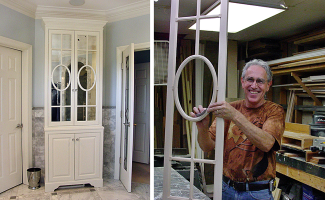 Charmant Tom Proudly Displays Detail Of Fretwork Door Frame He Built For Fretwork  Bath Room Cabinet